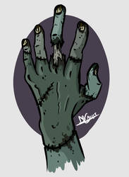 Zombie hand by Dr-Gauss