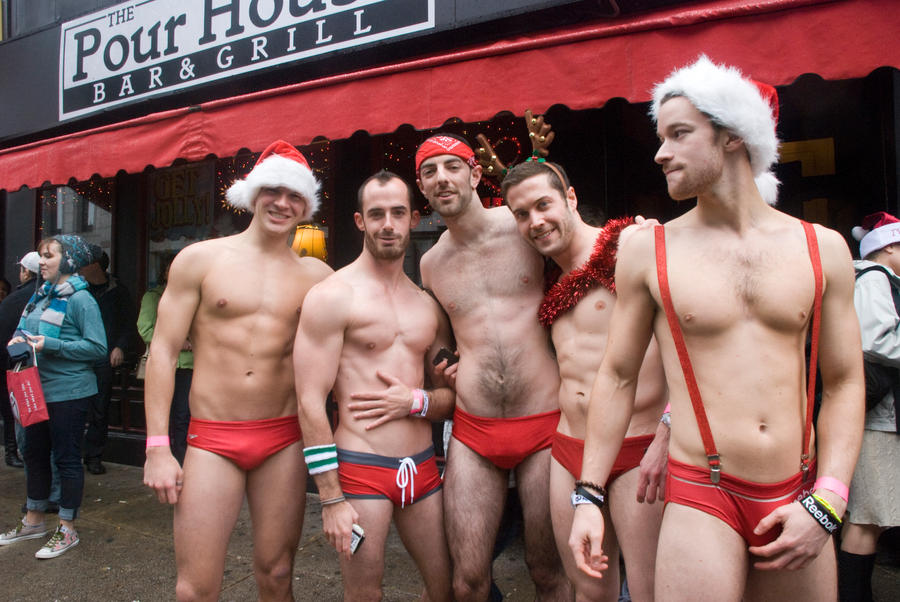 The Pose, Santa Speedo Run by Miss-Tbones