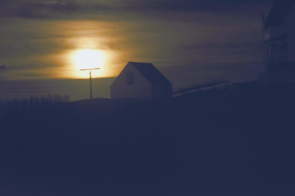 Nubble Lighthouse Shack, Super Moon Rising 5 by Miss-Tbones