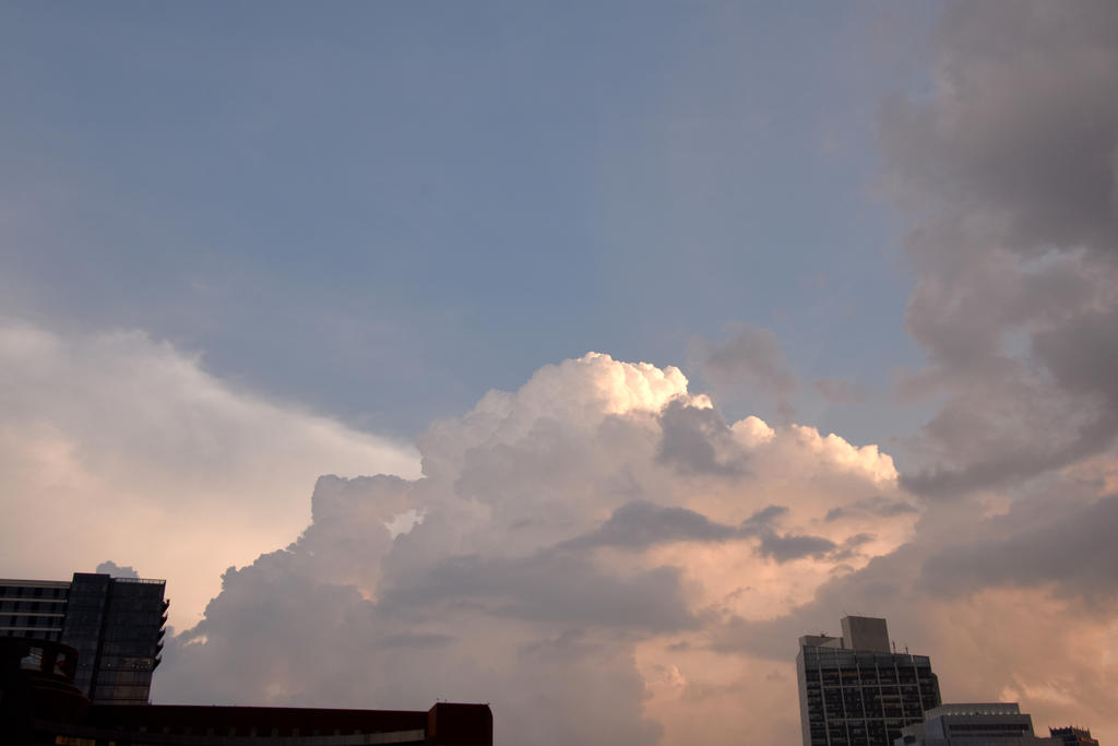 Storm Cloud Formations Above Boston Buildings 2 by Miss-Tbones