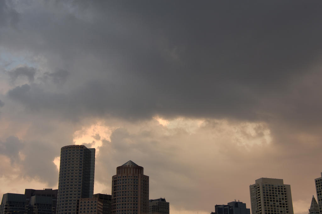 Storm Cloud Formations Above Boston Buildings 3 by Miss-Tbones