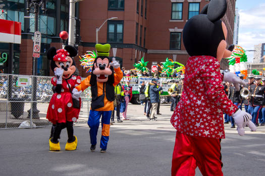 Disney In the St Patricks Day Parade by Miss-Tbones