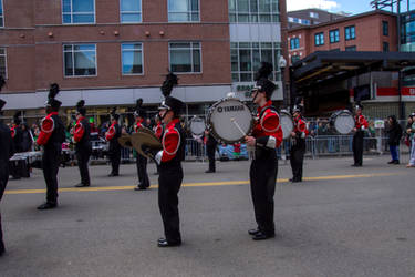 Drumming In Place, St Patricks Day Parade by Miss-Tbones