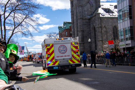 Emergency Medical Vehicals, St Patricks Day Parade by Miss-Tbones
