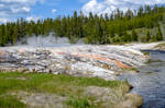 Steam and Running Color By Water, Yellowstone