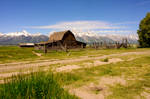 The Old Wooden Structure and Tetons Mountains 4