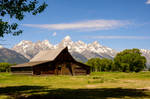 The Old Wooden Structure and Tetons Mountains 5