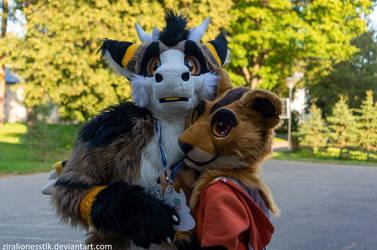 Zira and Ferox Fursuit