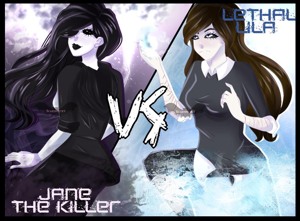 Jane the killer vs lethal lila speedpaint by scarmmetry - Jane the killer anime ...