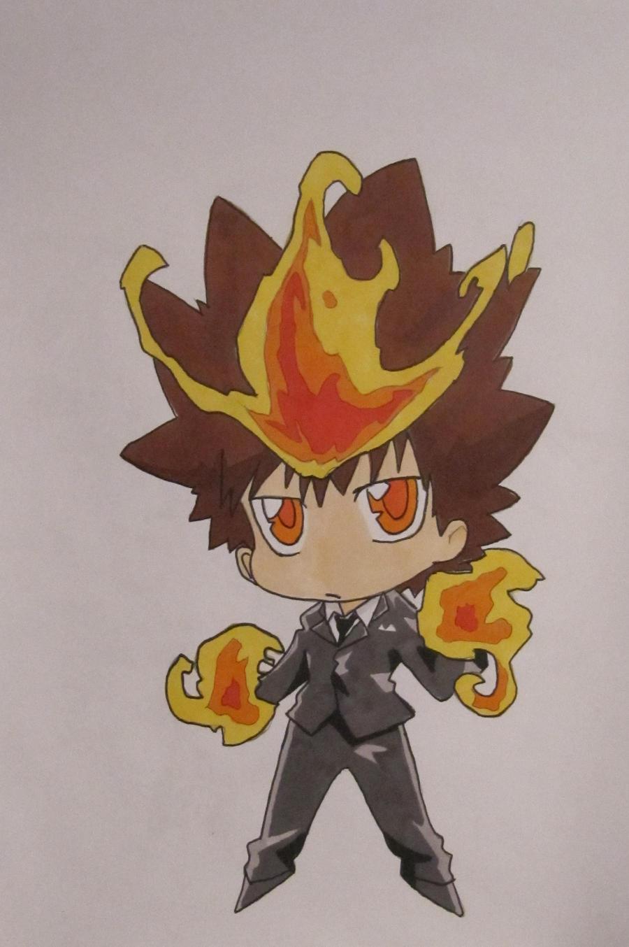 Tsuna chibi by Fire-Natsu