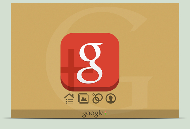 The New Red Icon Google+ by Schulerr