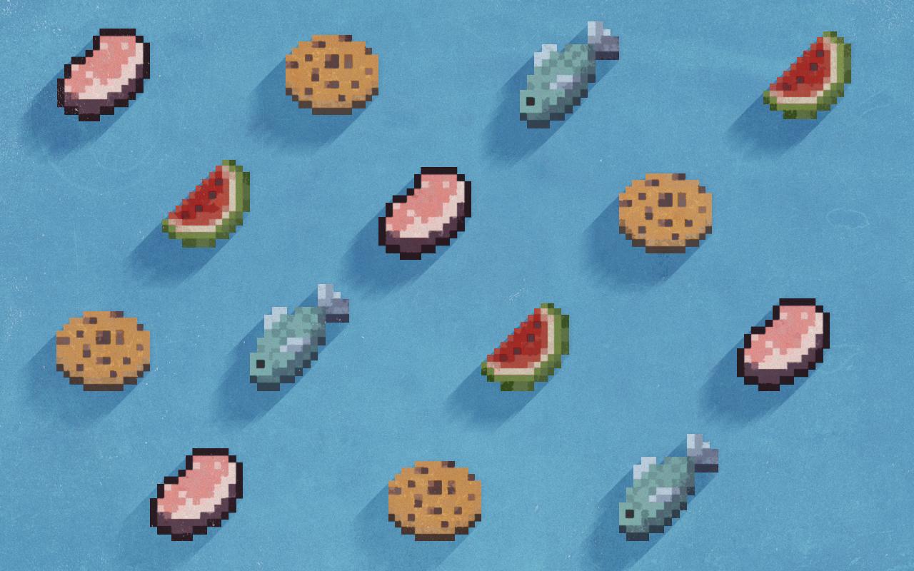 Pattern Food Minecraft by Schulerr