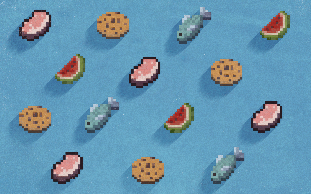 Pattern Food Minecraft by Schulerr