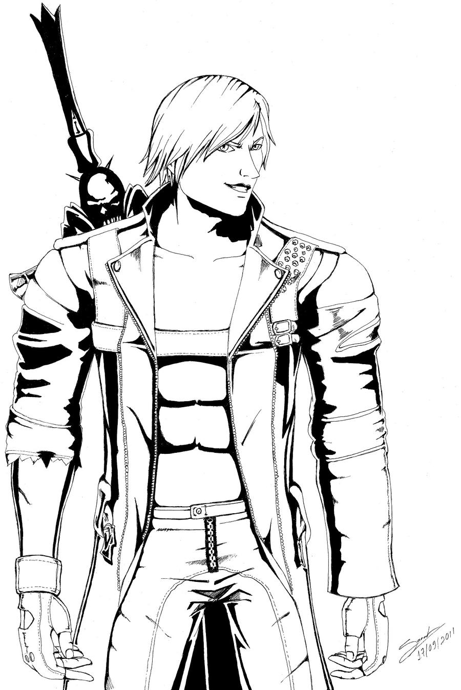devil may cry coloring pages - photo#14