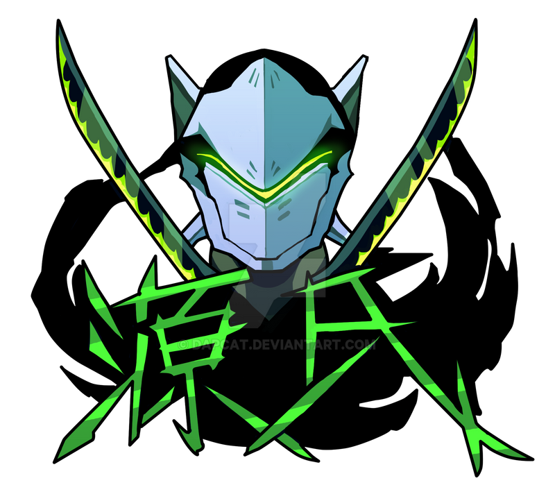 Genji overwatch sticker design by dapcat