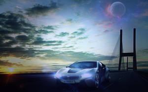 BMW i8 concept wallpaper edit by dxRAMPAGExb