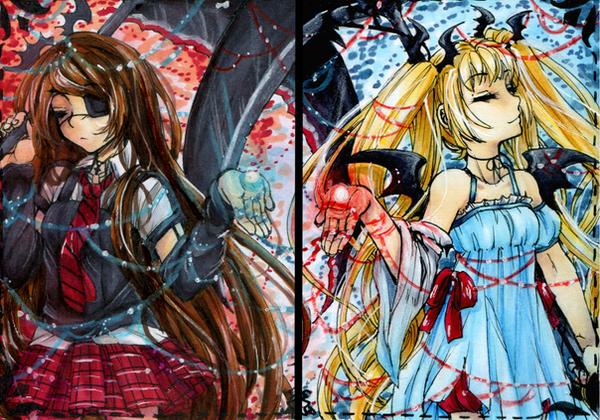 Cherriuki Gift - Kurohana and Tamari by ICanReachTheStars