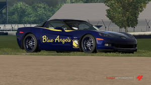 United States Navy Blue Angels Corvette