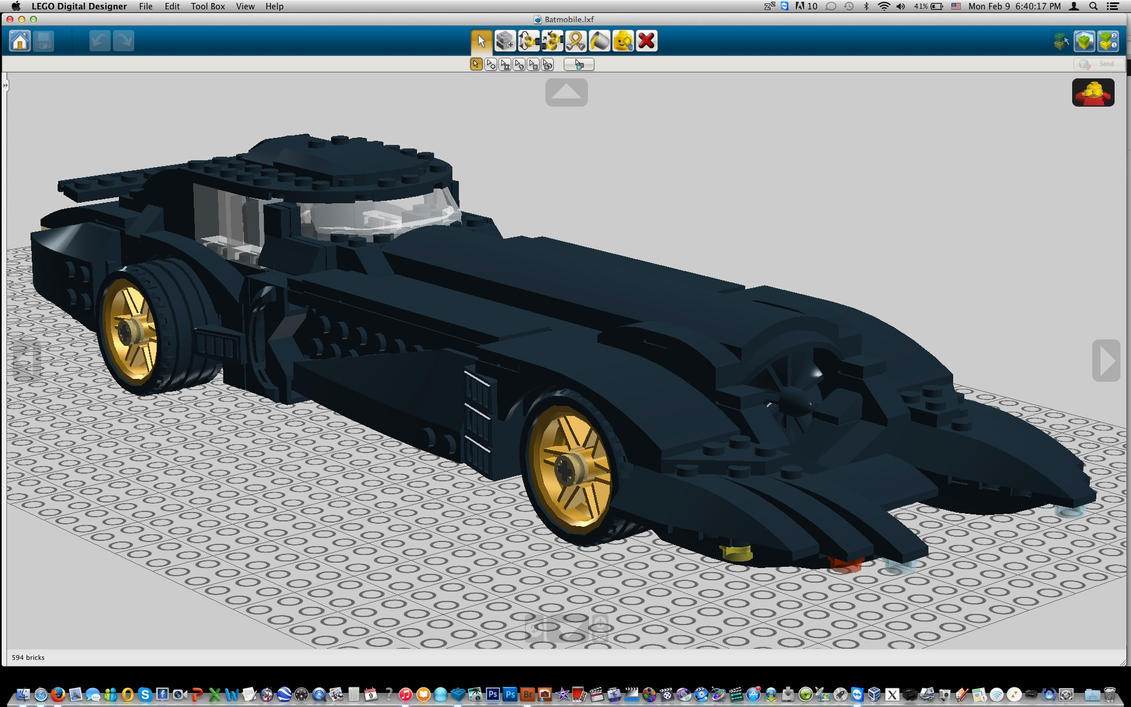 Batmobile1 by Dark-Lord-of-Sith