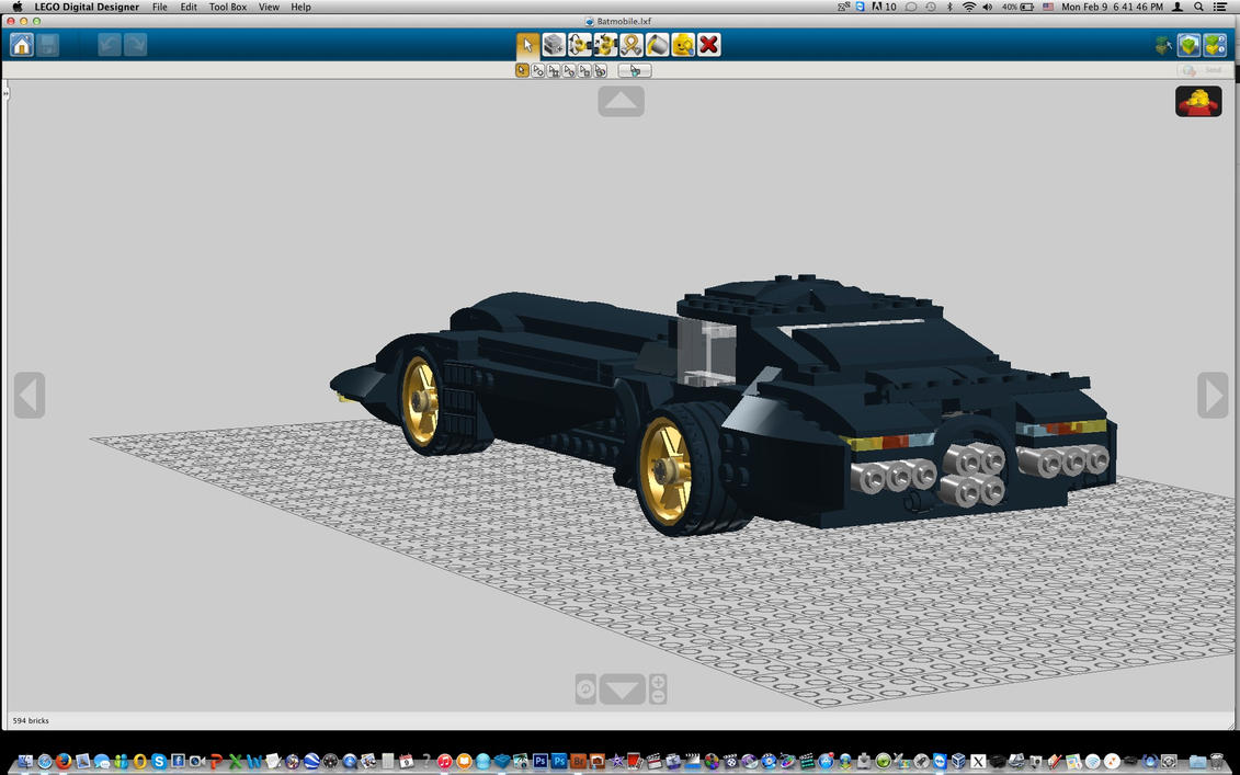 Batmobile2 by Dark-Lord-of-Sith