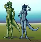 [CM] Hominosaur Couple by Inkblot123