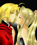Ed and Winry about to kiss