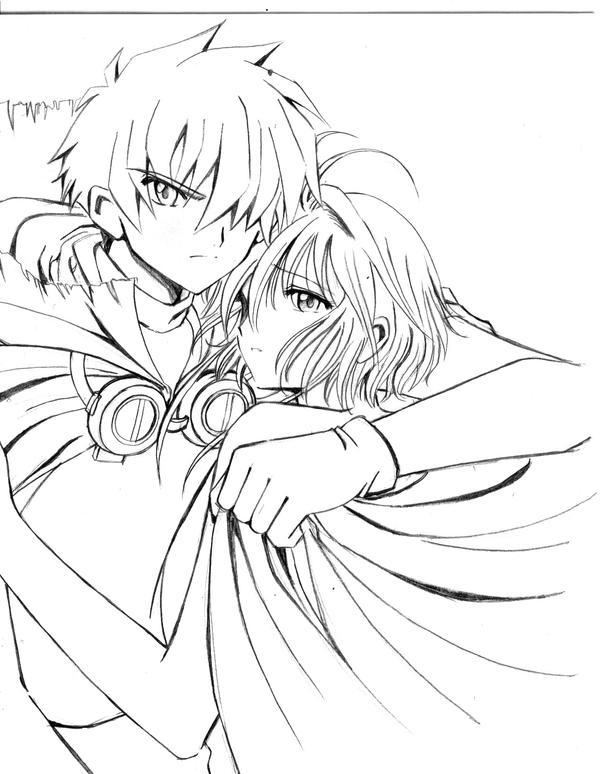 trc syaoran sakura sketch by barbypornea on deviantart