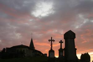 Cemetery and sundown by KajiyaEol