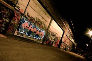 Light painting and graffitis by KajiyaEol