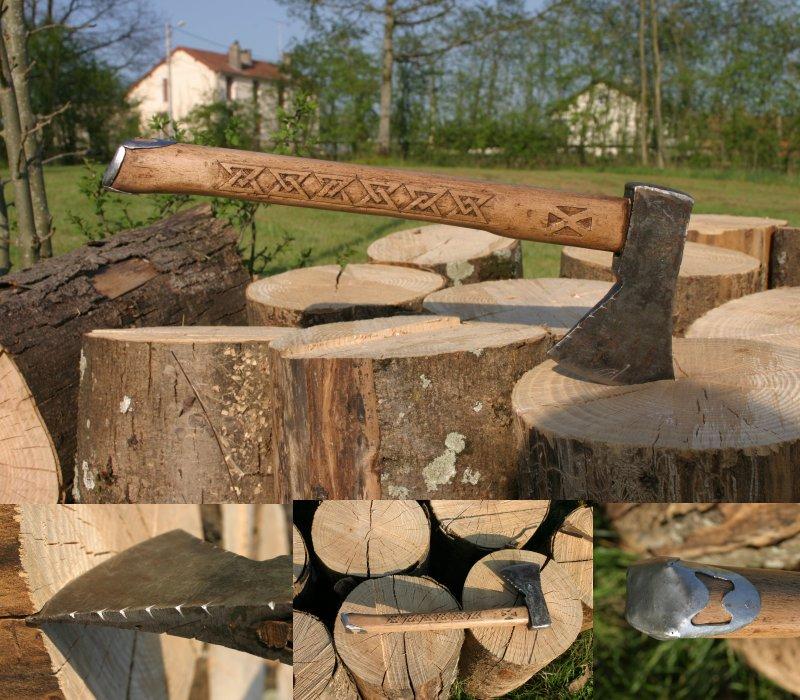 carved axe handle. carved axe by kajiyaeol handle