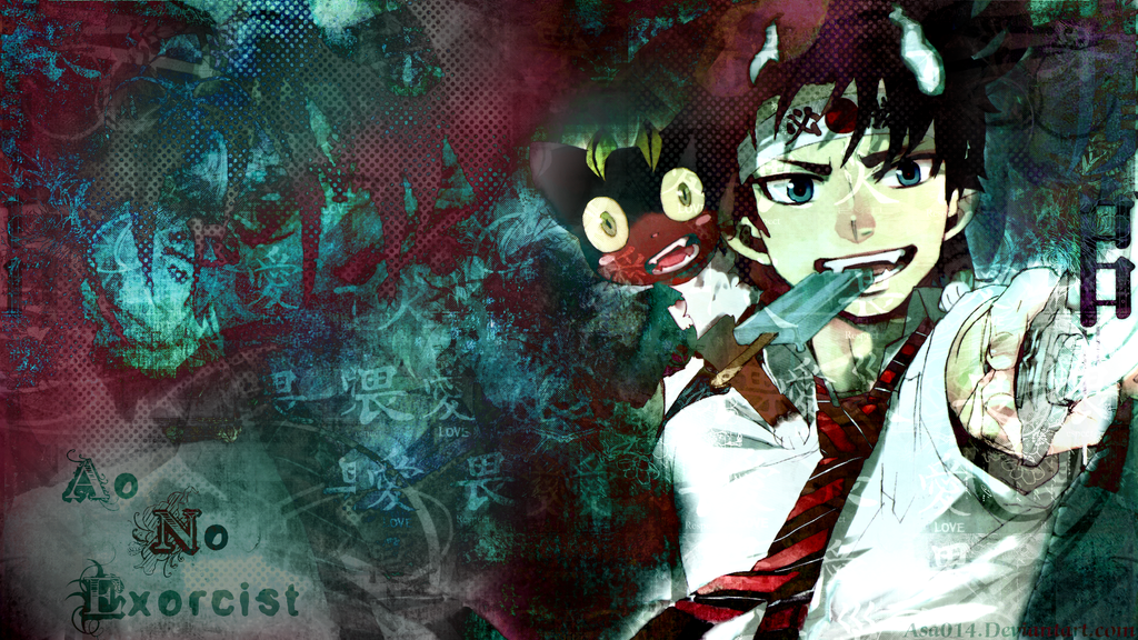 Ao no exorcist wallpaper 4 by Tkaczka