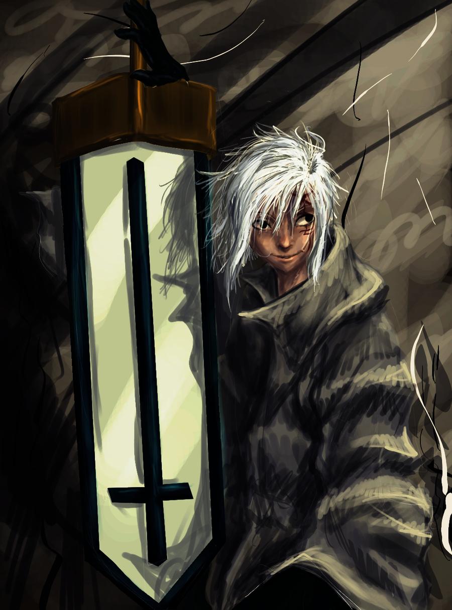 D.Gray-man Allen Walker mieczyk by Tkaczka
