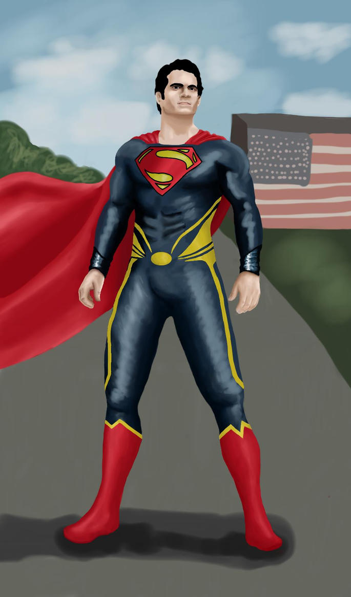 Man of Steel (with actual color) by Crescent17