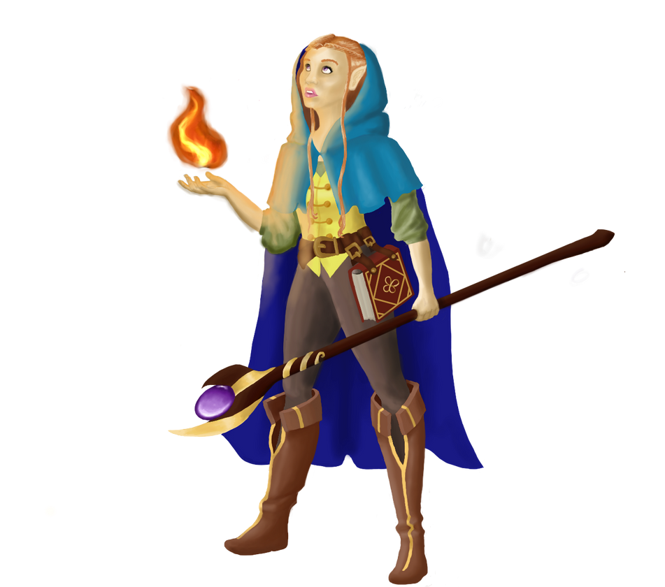 Half-Elf Mage by Crescent17