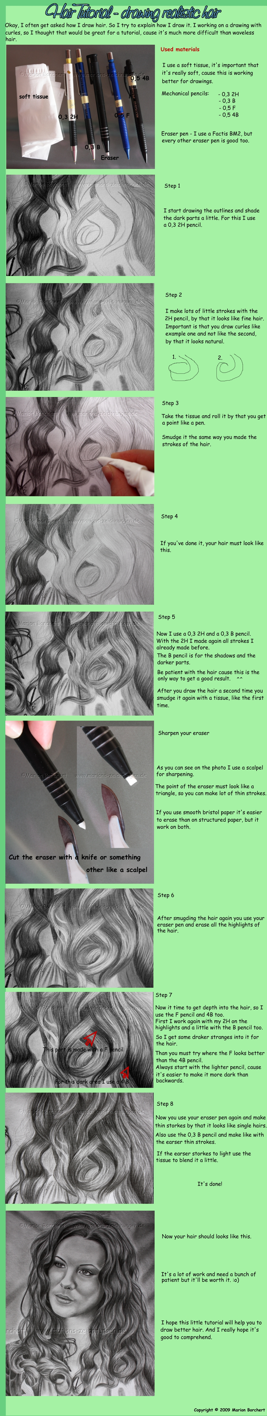 Hair Tutorial by WitchiArt