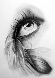 Feathered eye