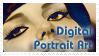 Digital Portrait Art Stamp by WitchiArt