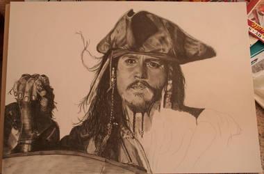 Jack Sparrow WIP 3 by WitchiArt