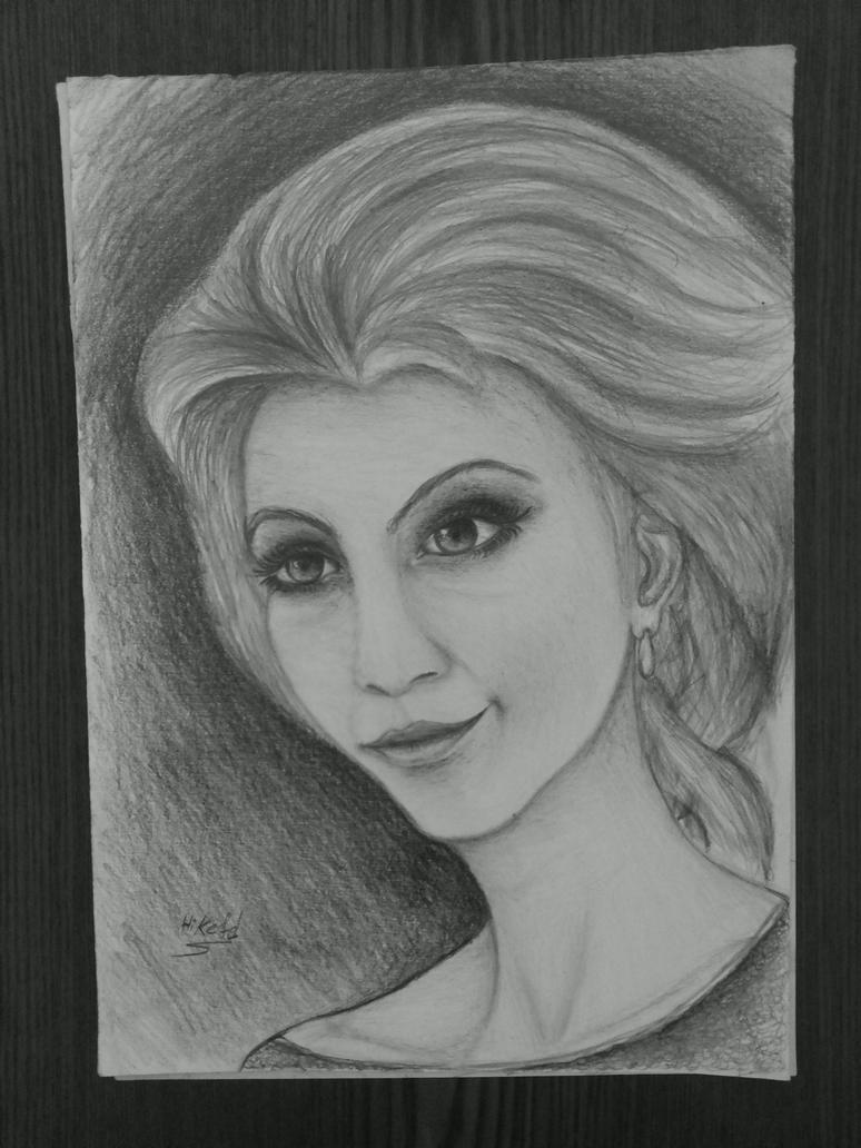 elsa frozen draw by hikefd