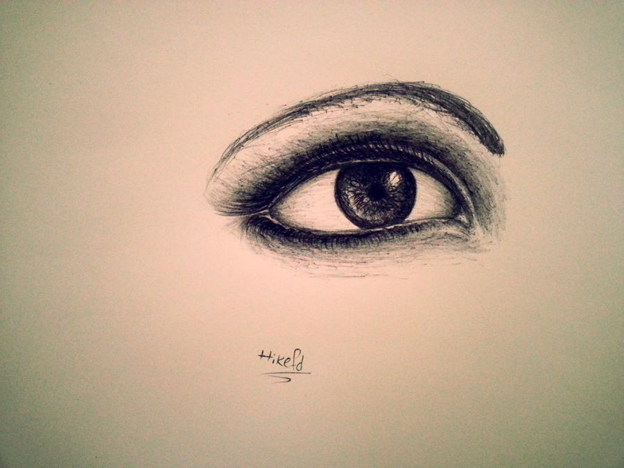 eye sketch by hikefd