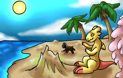 Basic Earth Week 2 - Beach Fun by UsaHunnyBunny