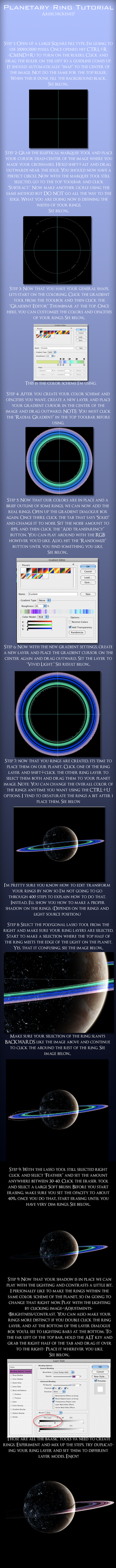 Planetary Ring Tutorial by arisechicken117