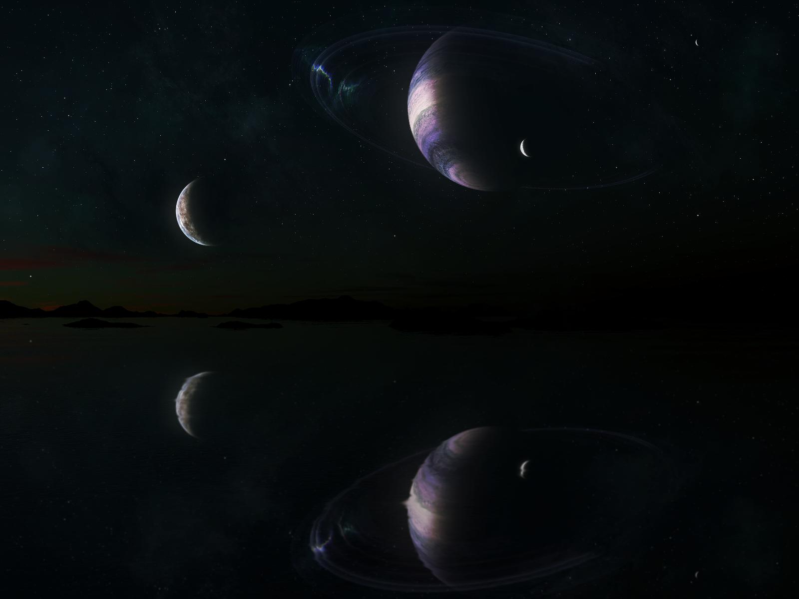 Sunset: Epsilon Eridani B-8 by arisechicken117