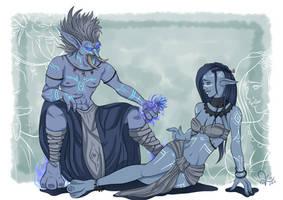 Nezrif and Jirathy by WolfenmondArt