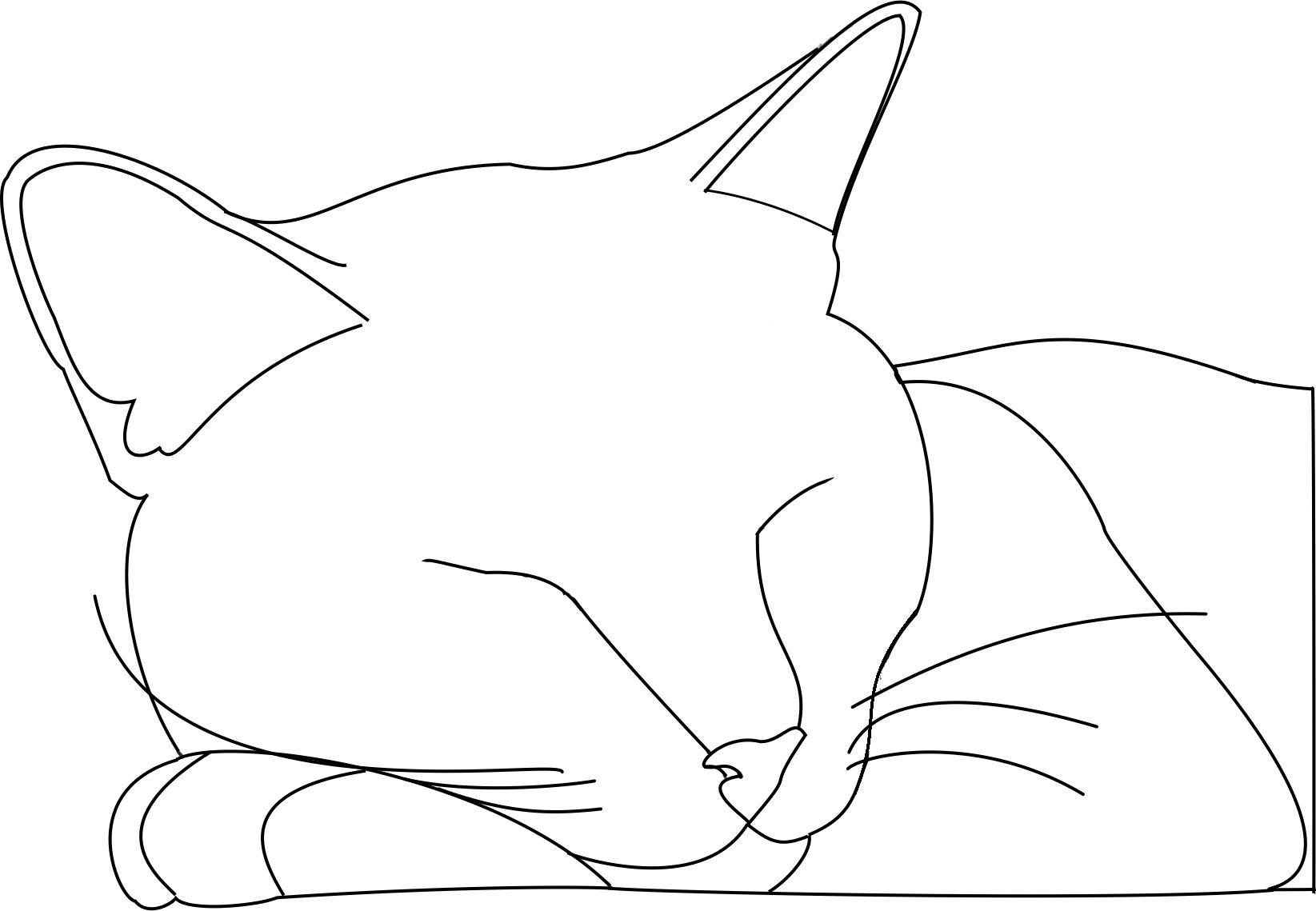 Cat outline Logan by SGAlteran on DeviantArt