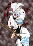 Gintoki and Shiroyasha