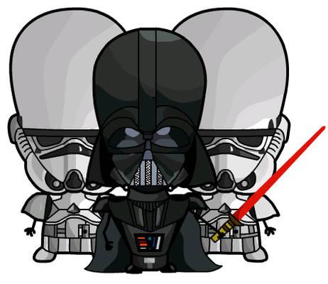 Evil Darthy with Og-Troopers