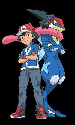 Ash and Greninja (POKEMON XYZ)