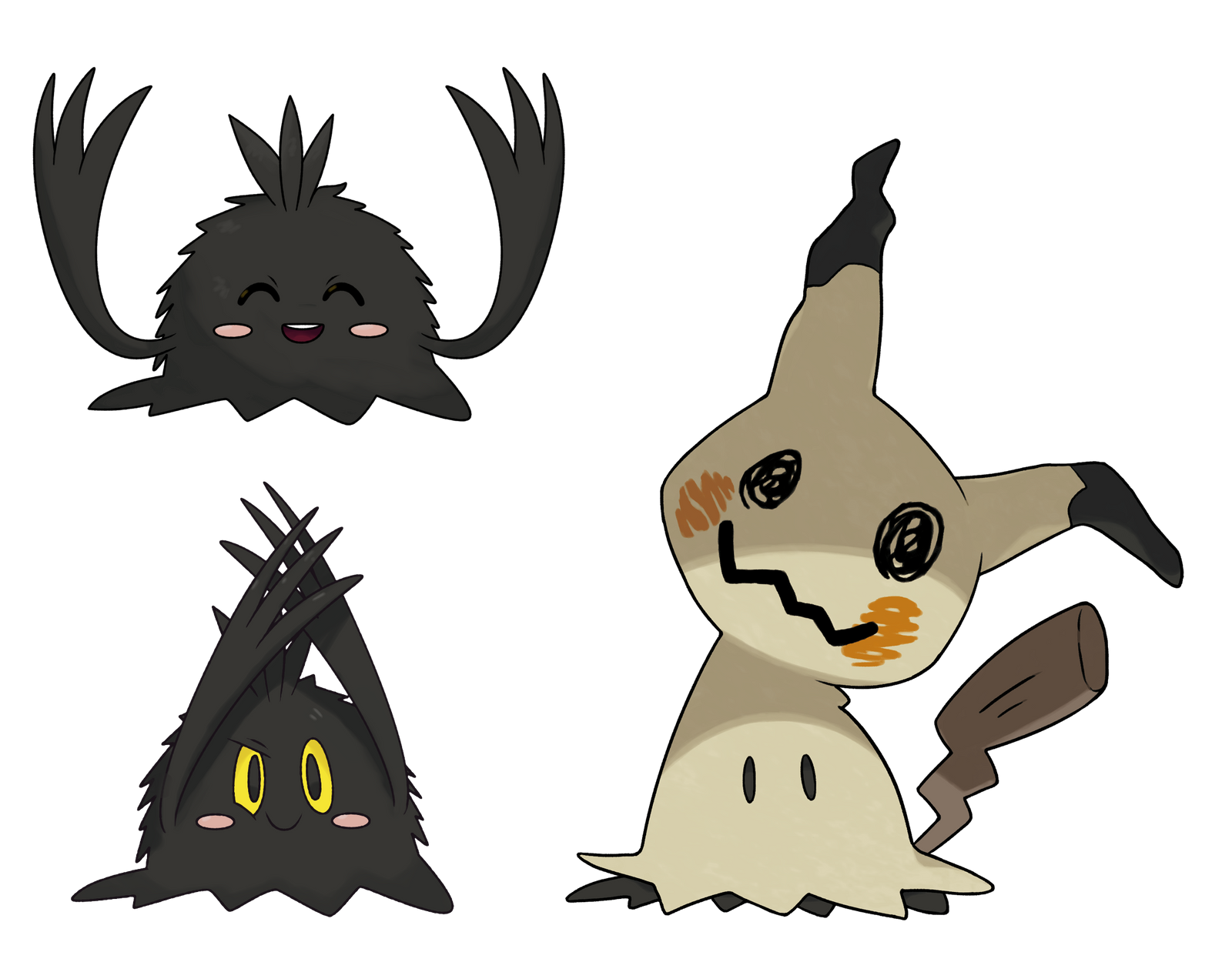 Mimikyu without disguise. by Alexalan on DeviantArt
