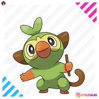 GROOKEY GRASS STARTER POKEMON SWORD SHIELD by Alexalan